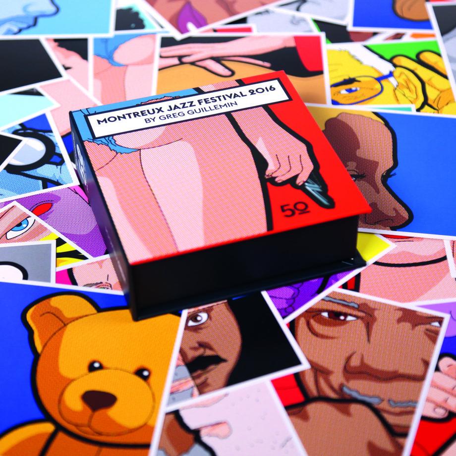 Boîte de 60 cartes postales Greg Léon Guillemin Montreux Jazz Festival