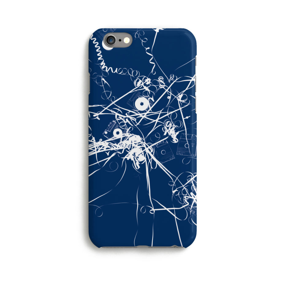 Coque iPhone Christian Marclay 2019 Mixtape Blue Cyanotype