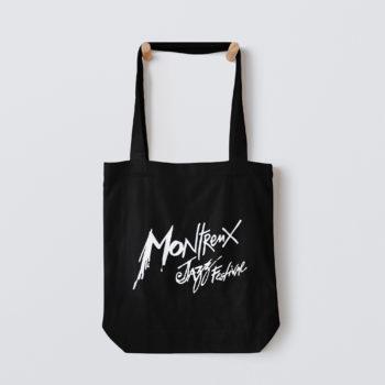 Tote Bag Noir Logo Blanc Montreux Jazz Festival