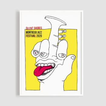 MJF20 Silent Shores 50x70 Frame - Bruno Gaeng