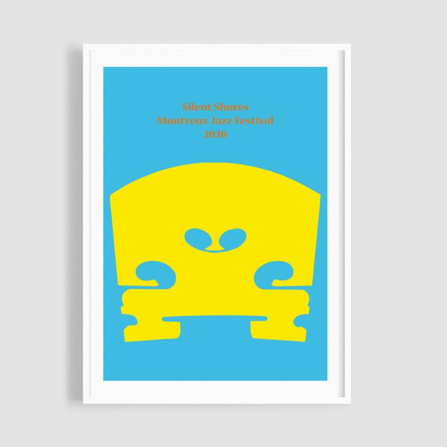 MJF20 Silent Shores 50x70 Frame - John M Armleder