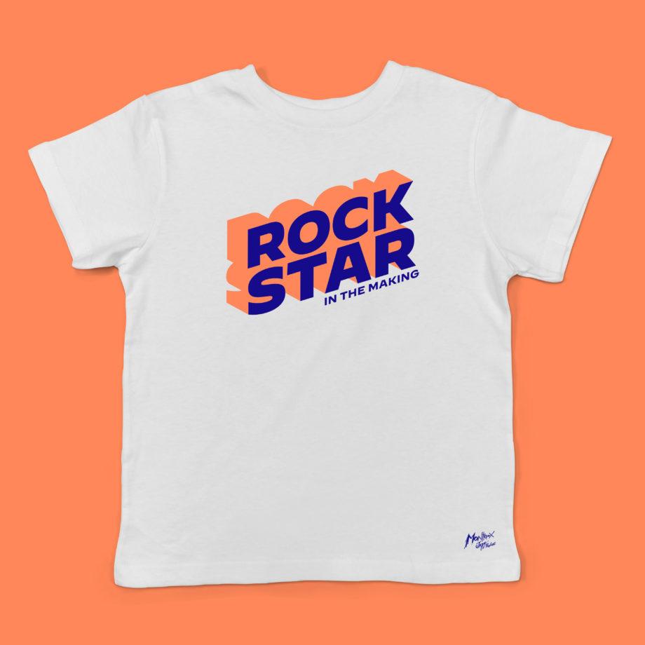 T-Shirt Blanc Rock Star, Enfant Montreux Jazz Festival