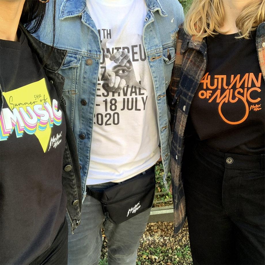 3 tshirts Collectors 2020 Montreux Jazz Festival JR-AOM-SOM