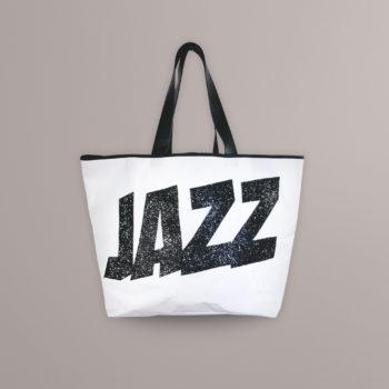 Sac Jazz Noir en bâche de voile recyclé Jazz Montreux Festival