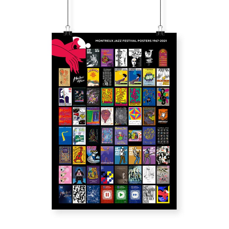 Affiche 1967-2021 Montreux Jazz Festival