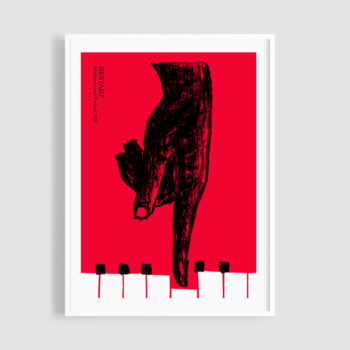 MJF21 Affiche Restart 50x70 Frame - Eva Temponera - Montreux Jazz Music Festival