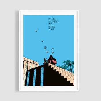 MJF21 Poster Restart 50x70 Frame - Federico Tramonte - Montreux Jatt Music Festival