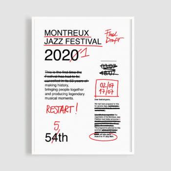 MJF21 Poster Restart 50x70 Frame - Valeria Pernice - Montreux Jazz Music Festival