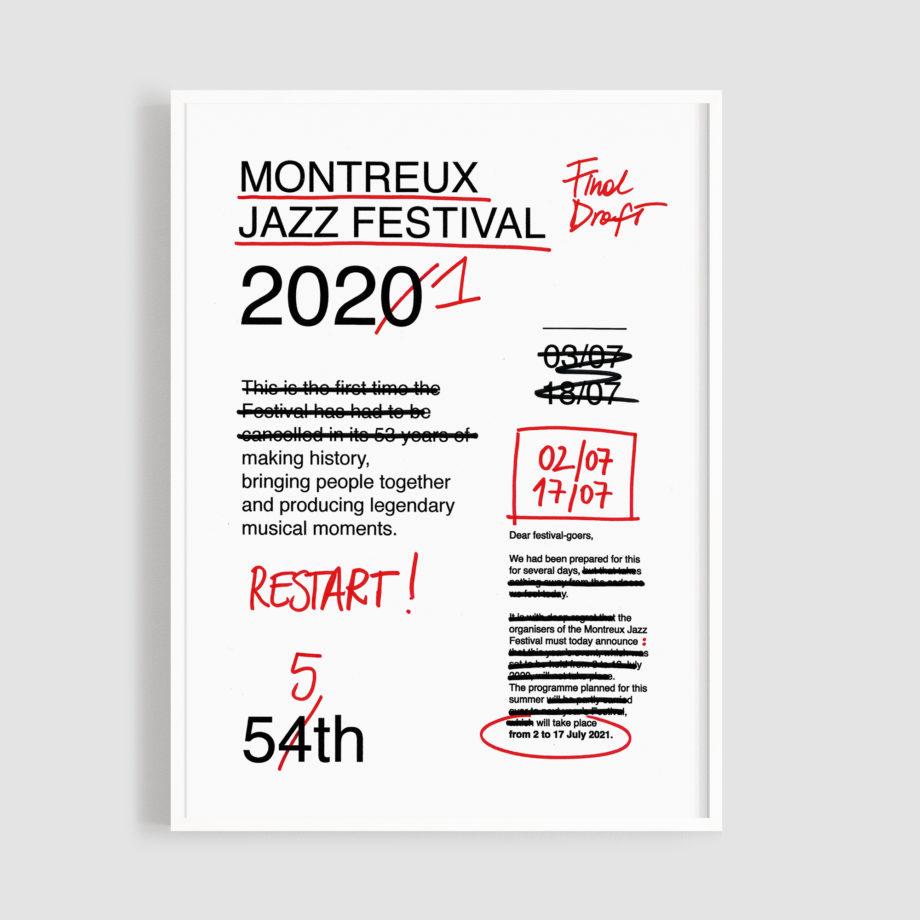 MJF21 Affiche Restart 50x70 Frame - Valeria Pernice - Montreux Jazz Music Festival